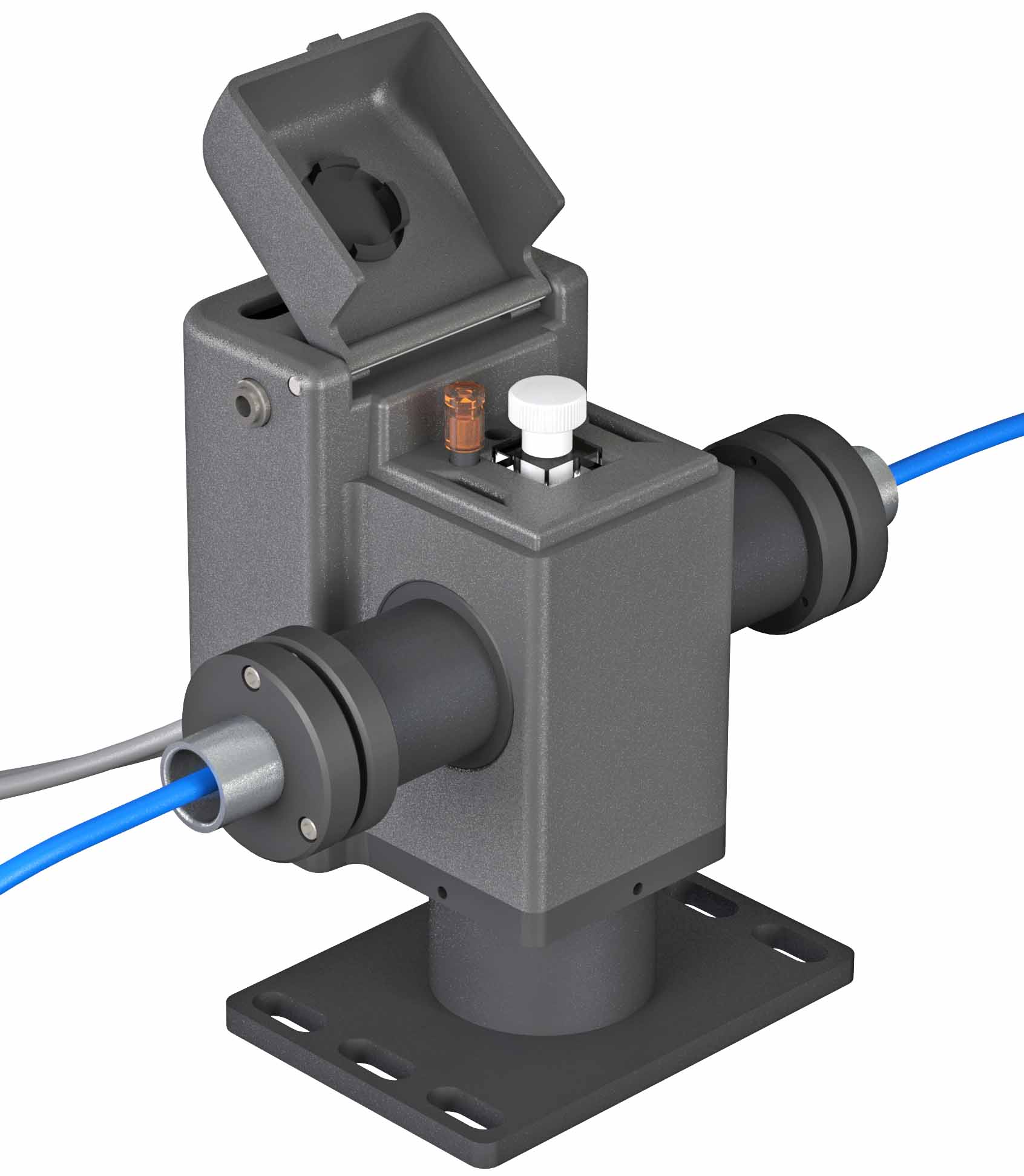 <strong>qX2 - Temperature-controlled cuvette holder adapted for fiber optics</strong>
